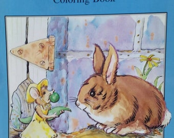 The Tale of Peter Rabbit, (2) Coloring/Storybook and Small Hardcover Book, Beatrix Potter, Coloring Book Like New, 1996, Book 1989.