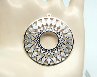 2 pendants prints filigree, silver, 27 mm pendant, round Design