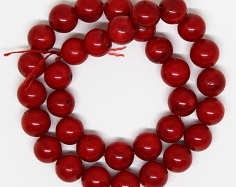 AAA Quality Beautiful Red Coral Plain Round Beads  11-12mm Strand/Beads for Jewelry Making Beading Craft Suuplies Jewelry Supply