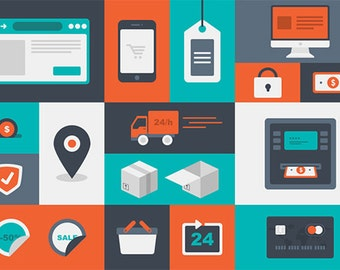 Bright and Modern E-commerce Vector Icons