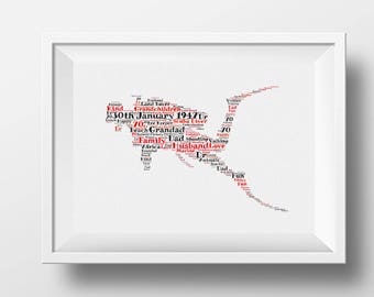 Framed word art, scuba diver design gift idea for all occasions, gift for scuba diver, Christmas gift, birthday gift