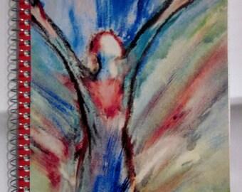 "Inspirational, Spiritual, Spiral Bound Notebook Journal ""Let It Rain"""