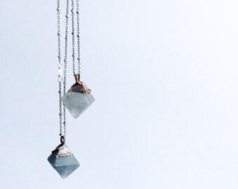 Fluorite Crystal necklace   Raw fluorite jewelry   Sterling silver and fluorite necklace   Fluorite crystal jewelry   Raw mineral necklace