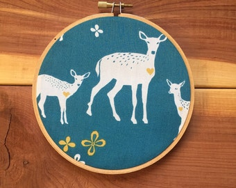 Nursery Art, embroidery hoop art,