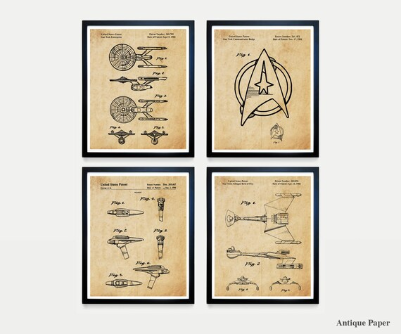 Star Trek Patent - Star Trek Art - Star Trek Poster - Star Trek Enterprise - Klingon - Star Trek Fan Art - Star Trek Patent Print - Trekkie