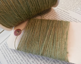 JUTE TWINE BURLAP String Sage Green Thin Strong Natural