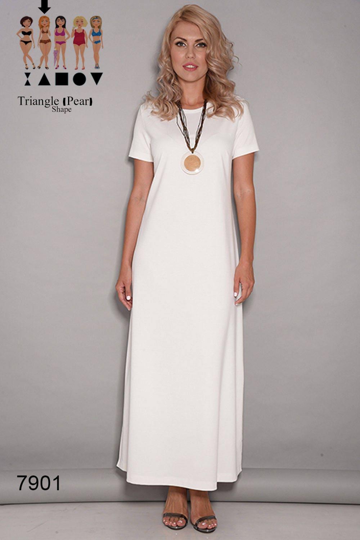 Weißes Kleid Damen Kleider Maxi-Kleid casual Kleider