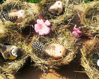 """Natural Bird Nests 4,5"""" inch,Scrapbooking Embellishments, Wreaths Craft Supplies,easter crafting,Easter Decoration, Spring Decoration"""
