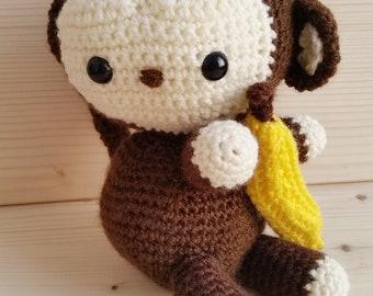 Amigurumi Monkey, Amigurumi monkey, handmade, crochet, birth gift idea, baby shower, eco toys