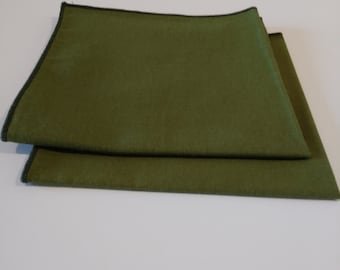 Cloth Napkins Olive Green