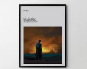 DUNKIRK 2017 Poster Art Print, Movie Film Posters