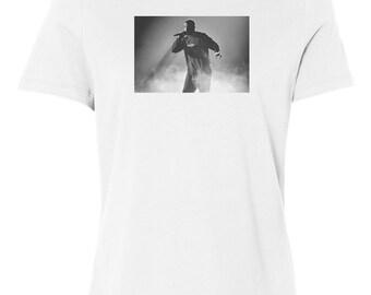 Drake Smoke Custom Women's Relaxed Fit Tee T-Shirt New-White