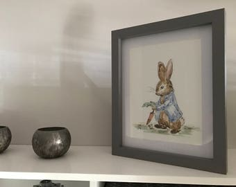 Hand Painted Peter Rabbit Watercolour
