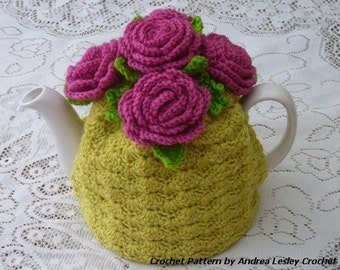 Collection of Four Crochet Tea Cosy Tea Cozy Patterns  (Instant downloads)