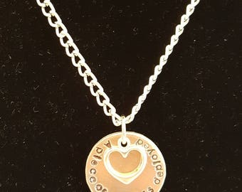 A piece of my heart is deployed necklace