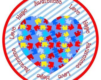 Autism Awareness Iron on