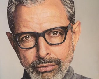 Jeff Goldblum Portrait on Pastelmat - Pastels
