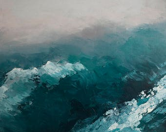 Blue Waves #2- Bear Lake print on canvas 11x14