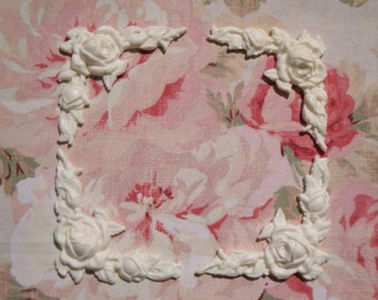 Shabby and Chic Flexible Rose & Leaf Corners (4 pcs) Furniture Appliques Architectural