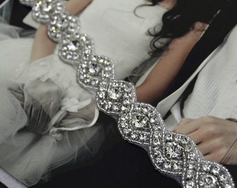 DIY Wedding Dress Accessories Bridal Sash Belt Rhinestone Sash