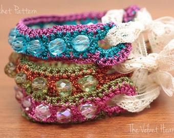 Beaded Jewelry Pattern, Bead Bracelet, Crochet Tutorial(26)