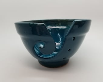 Small Teal Yarn Bowl Ready to Ship
