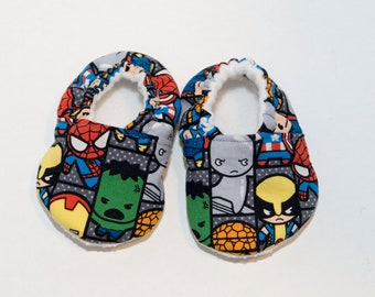 Advengers Baby Shoes - Crib Shoes - Toddler Shoes - Soft Baby Booties