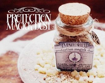 Protection Magick Incense *Empath Shield* Witchcraft - Frankincense, Cumin, Salt, Mugwort, Dill, Juniper & Crystal Quartz