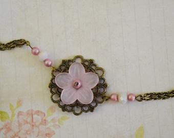 Headband romantic pastel pink flower
