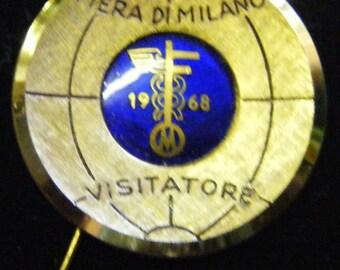 1968 Visitors Pin Commemorative