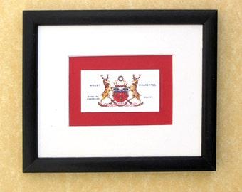 Bakers'Company - coat of arms - guild crest - framed cigarette card