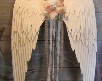 Metal Wings  - Angel Wings - Metal Angel Wings - Wall Art Wings - Nursery Art - Farmhouse Decor Wall Art - Painted Angel Wings