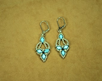 Baby Blue Chandelier Earrings