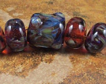 5 Boro Beads - Amber Purple