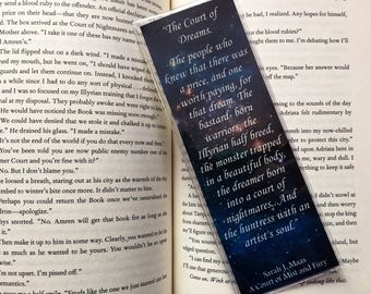 A Court of Mist and Fury The Court of Dreams Bookmark