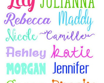 Personalized Vinyl Name Decal- Solid & Lilly Pulitzer