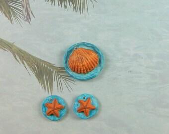 Shell and Starfish jewelry Set
