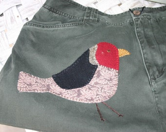 Sac ou sac à main oiseaux appliques Upcycled