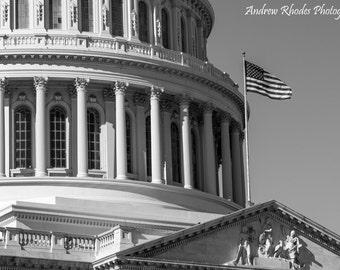 US Capitol Rotunde - Fine Art Fotoabzüge - schwarz / weiß, S / W, Vereinigte Staaten, Washington DC, Skyline
