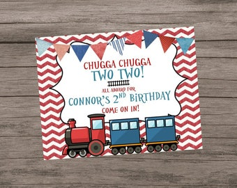 Chugga Chugga Two Two, Choo Choo Train Birthday, Door Sign, Train Party Sign, Train Sign