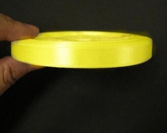 1 of 10mm yellow satin ribbon roll 25 yards-8993