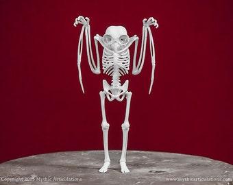 Mothman Skeleton 3D Print Taxidermy Sculpture