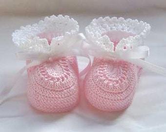 Crochet Little Pixes Baby Booties-Reborn Doll Shoes-Handmade Baby Shower Gift-0-3 Months