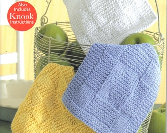 Knit Dishcloths ~  Knitting Book from Leisure Arts ~  Brand New