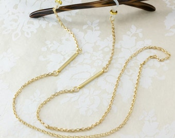 Matte Gold Geometric Eyeglass Chain, Modern Eyewear, Glasses Chain, Gold Eyeglass Necklace, Eyewear Accessories, Eyeglass holder necklace
