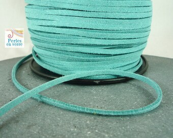 X 2 metresaspect (fil21) turquoise 3mm suede cord