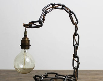 Arch Chain Industrial Style Table Desk Lamp Light