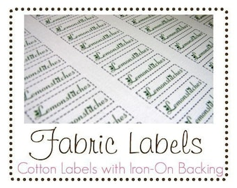 UNCUT Fabric Labels with iron-on backing