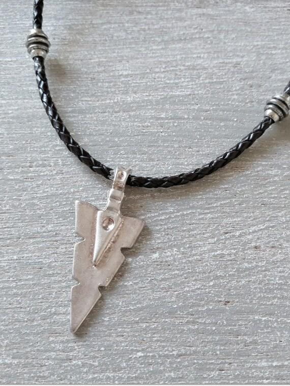Men Arrow Necklace, Statement Pendant, Mens Spear Necklace, Statement Necklace, Arrowhead Pendant, Men Arrow Jewelry