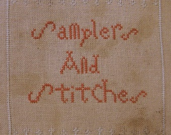 NEW cross stitch pattern - Samplers and Stitches - alphabet series from Notforgotten Farm